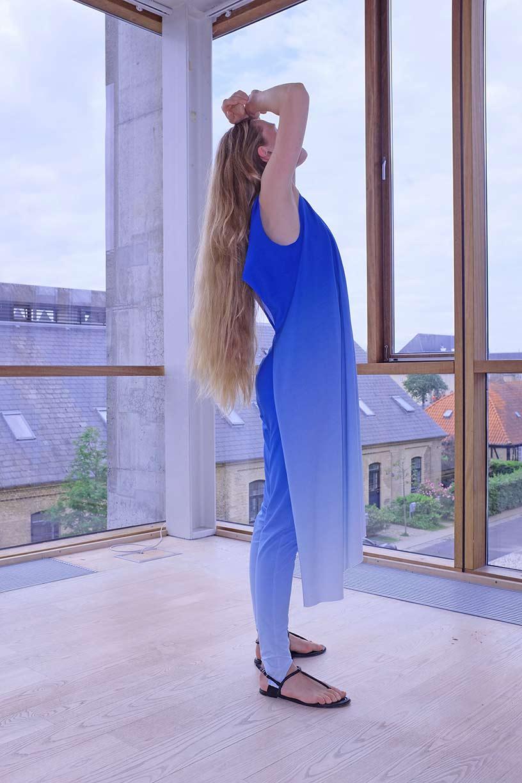 Image of Dress 2 - Organic Jersey - Blue Gradient
