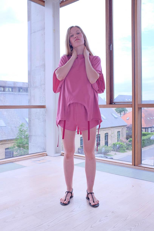 Image of Shift Blouse - Organic Jersey - Raspberry
