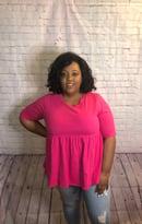 Image 1 of Hautie Hot Pink Top
