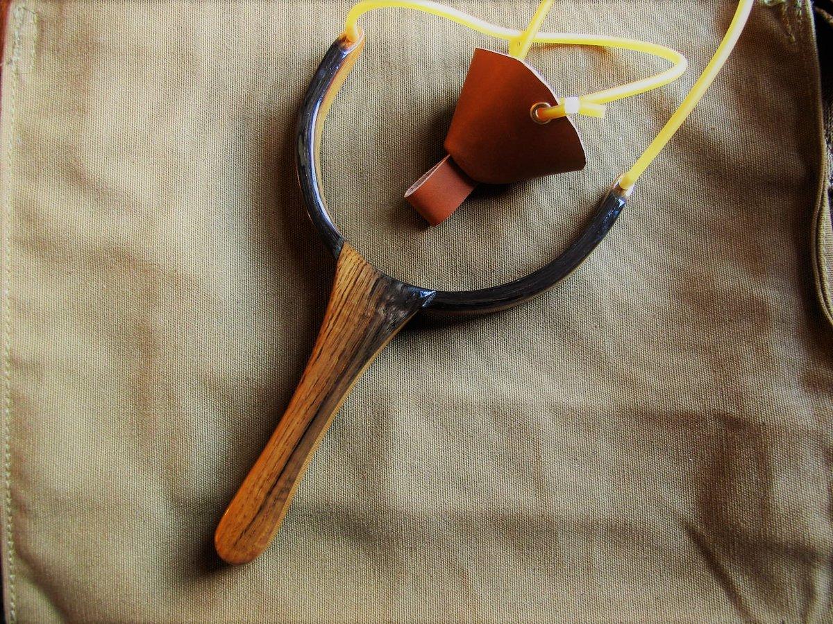 Image of Handmade oak catapult