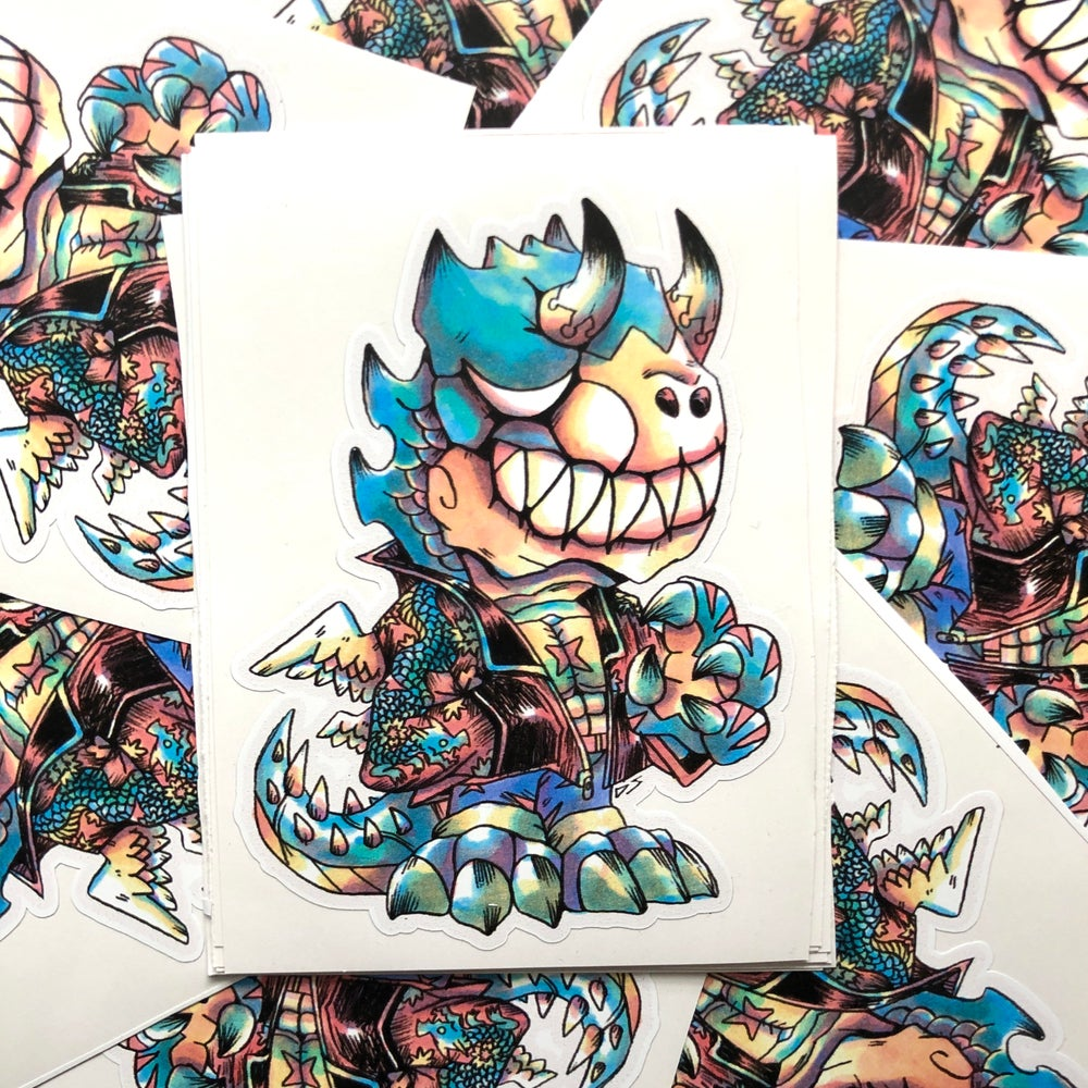 Image of Dark Dino Punk Sticker