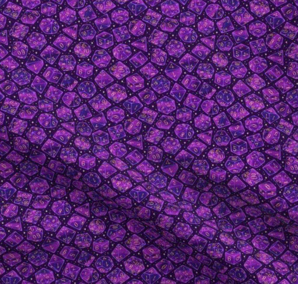 Roll The Dice: Purple Dog Bandana