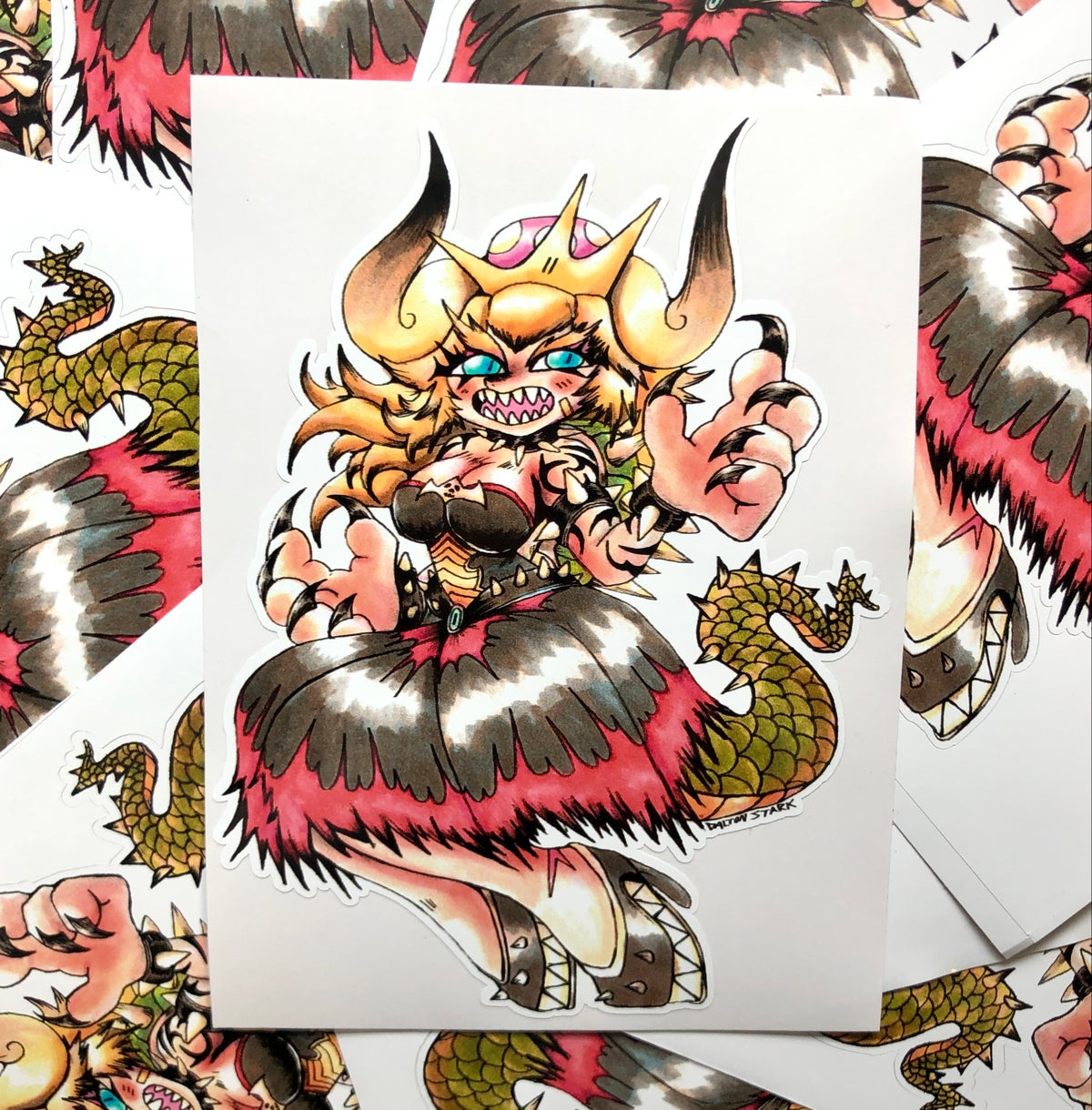 Image of Queen Bowsette Sticker