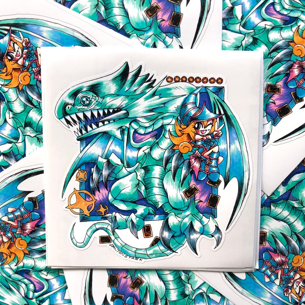 Image of Blue Eyes White Dragon Sticker