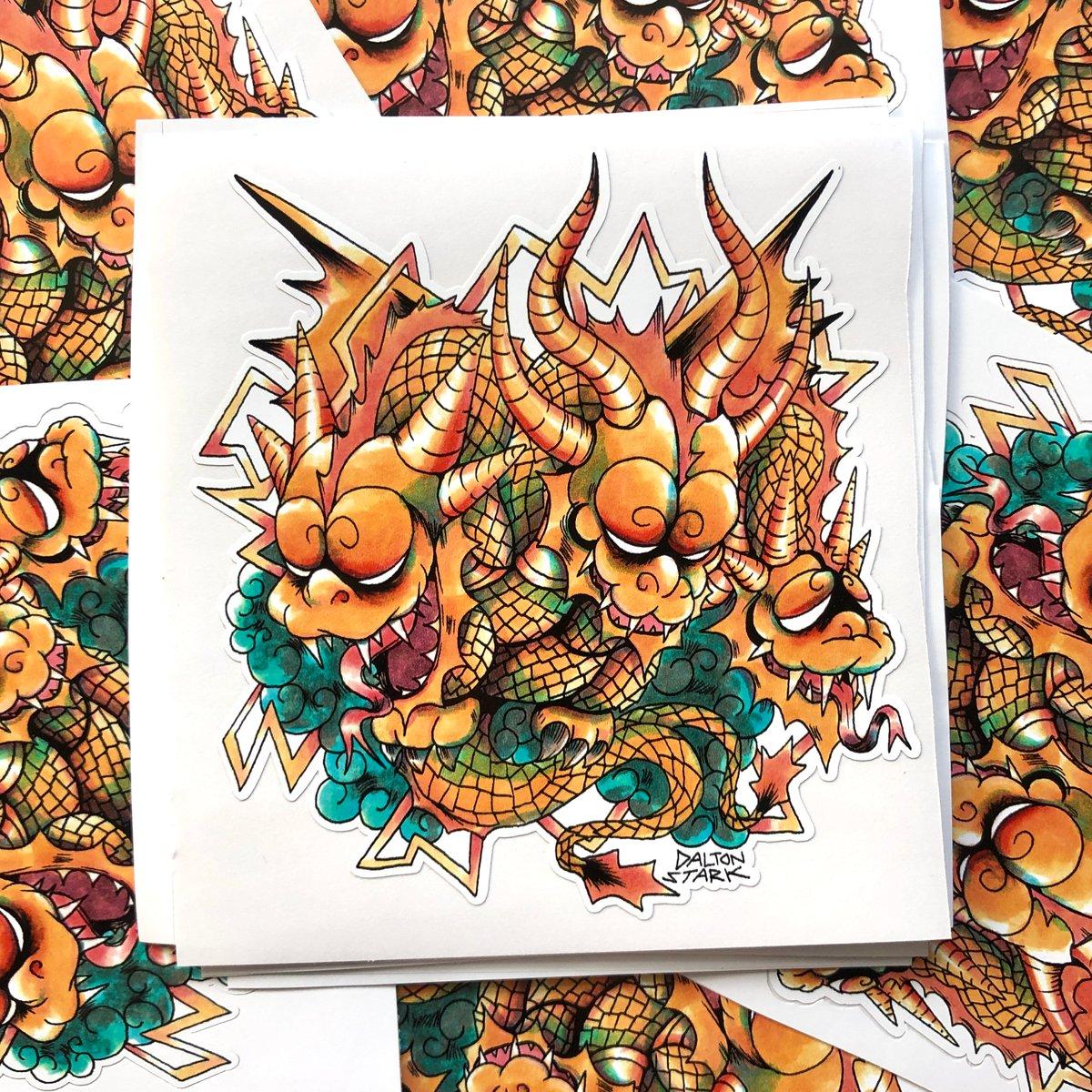 Image of King Ghidorah Sticker