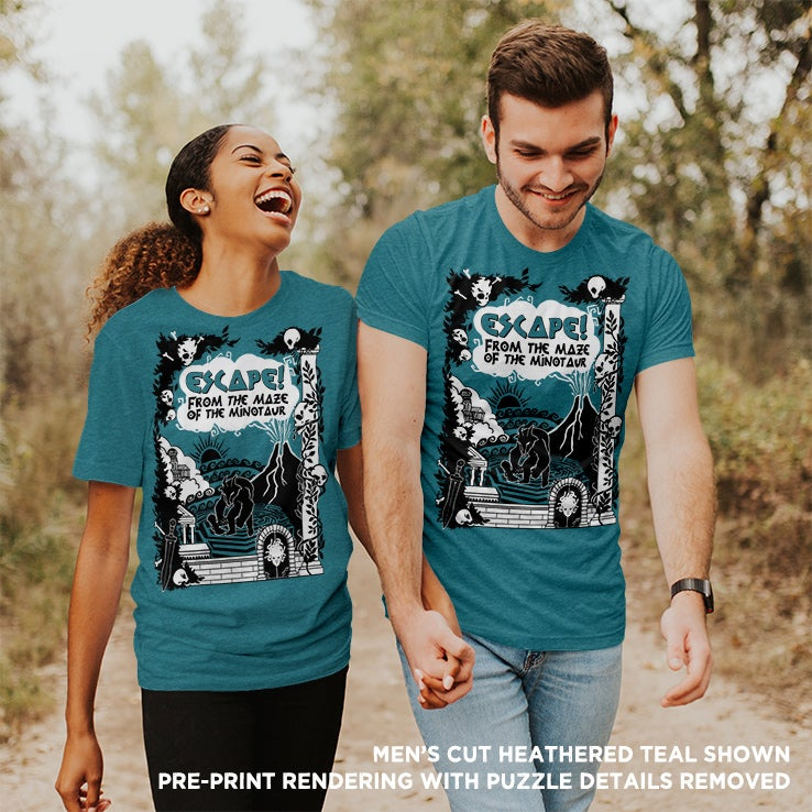 Solve Our Shirt: DELUXE COUPLE'S EDITION (Teal)!