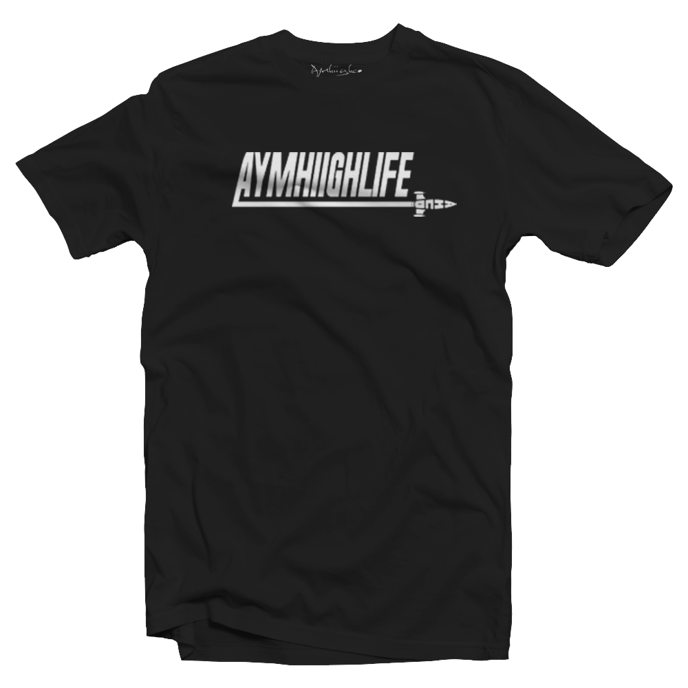 "AYMHIIGHLIFE ROCKET OUT T-Shirt ""Black"""