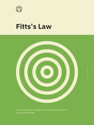 Fitts's Law Poster