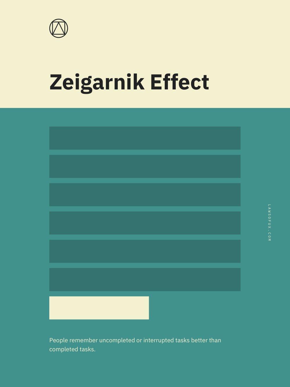 Zeigarnik Effect Poster