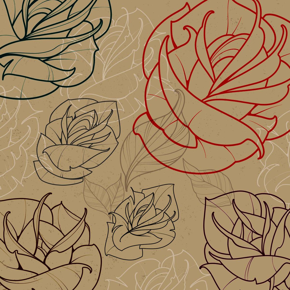 Image of Rose Garden 2 Procreate Brush Set