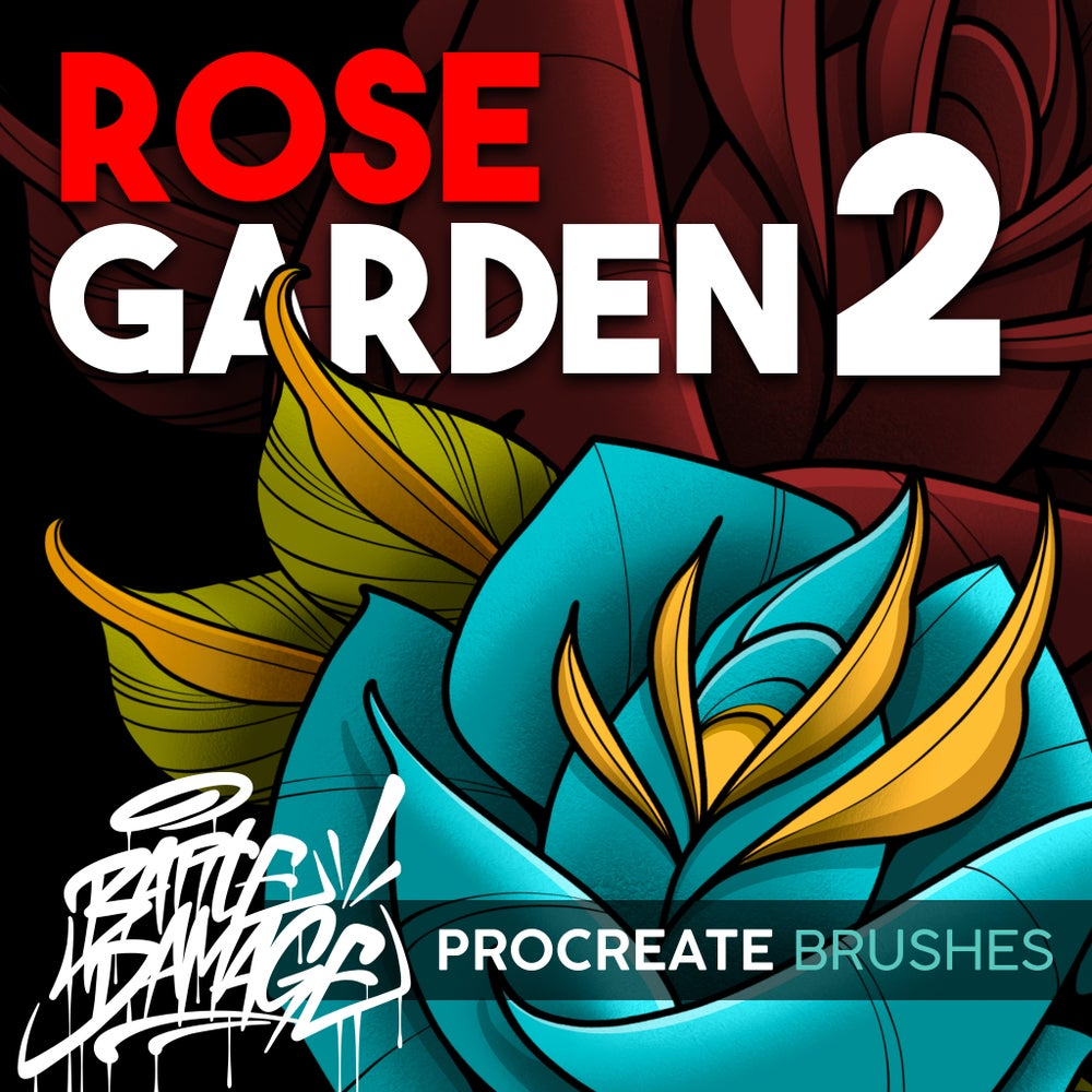Image of Rose Garden 2 Procreate Brush Set