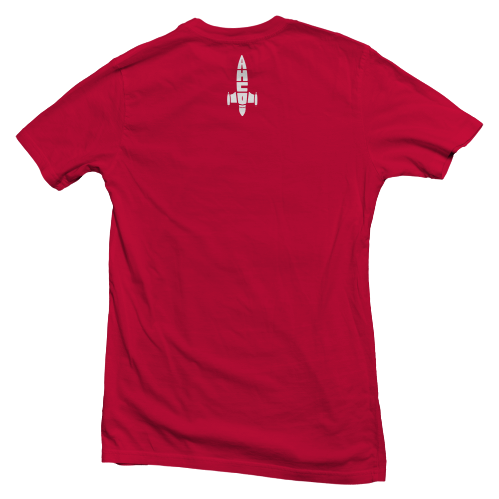 """Image of AYMHIIGHLIFE ROCKET OUT T-Shirt """"Red/White"""""""