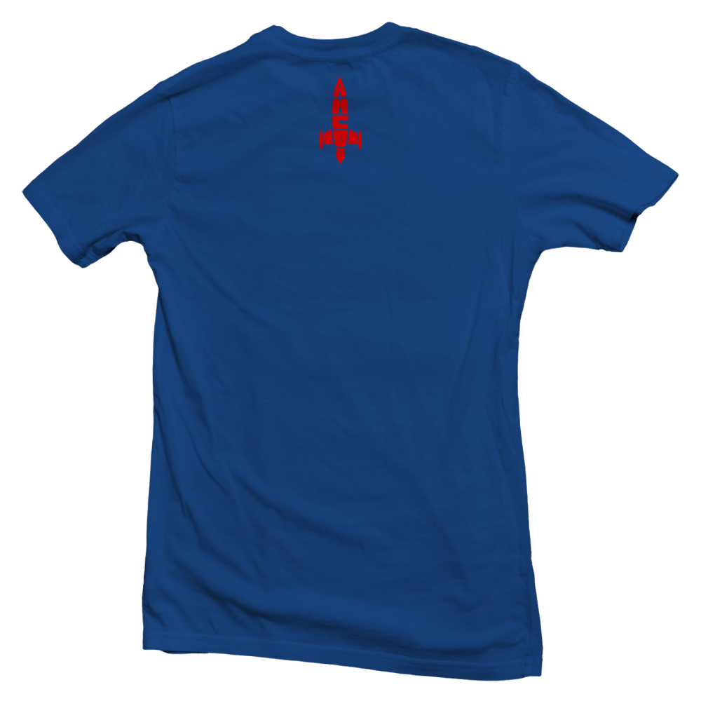 "AYMHIIGHLIFE ROCKET OUT T-Shirt ""Royal blue"""