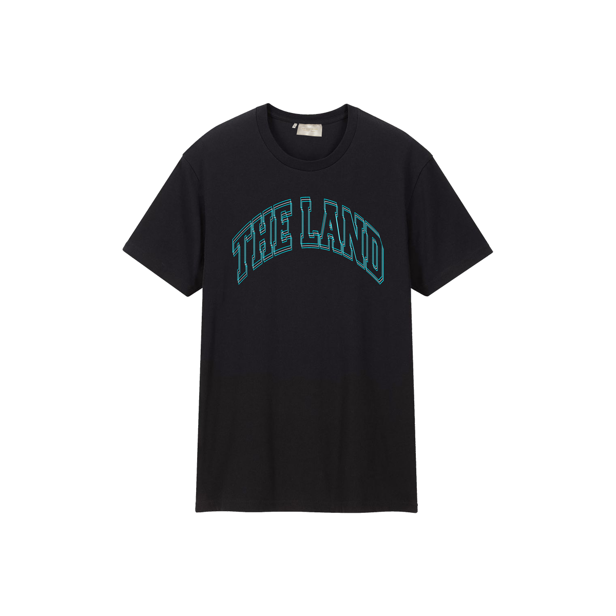 """Premium Collection """"The Land"""" Black/Blue Tee"""