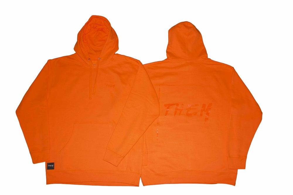 Image of Block Hoodie - Safety Orange