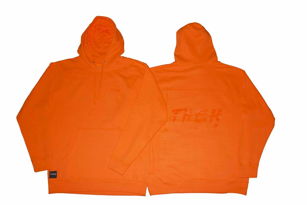Image of Block Hoodie - Safety Orange <s>$75</s>