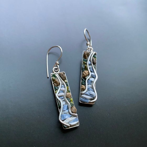 Image of Wire River Mosaic Earrings
