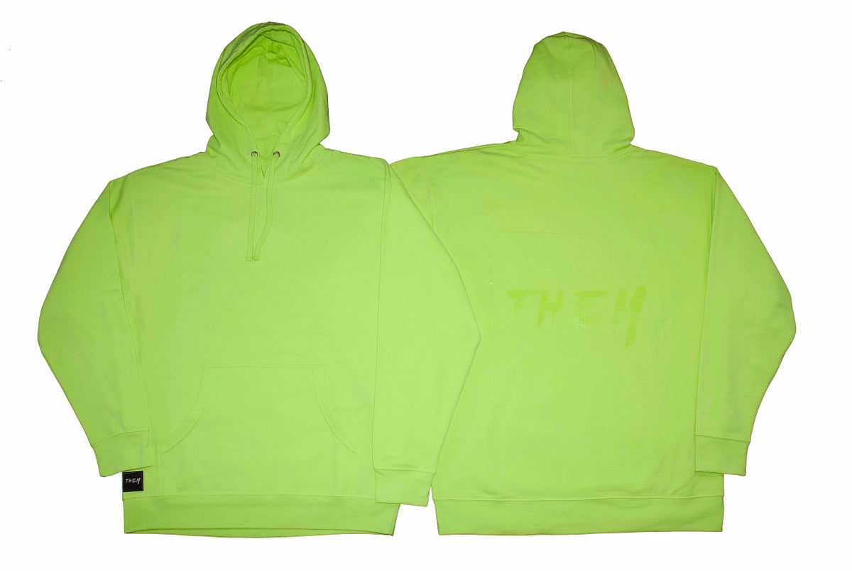 Image of Block Hoodie - Safety Green <s>$75</s>