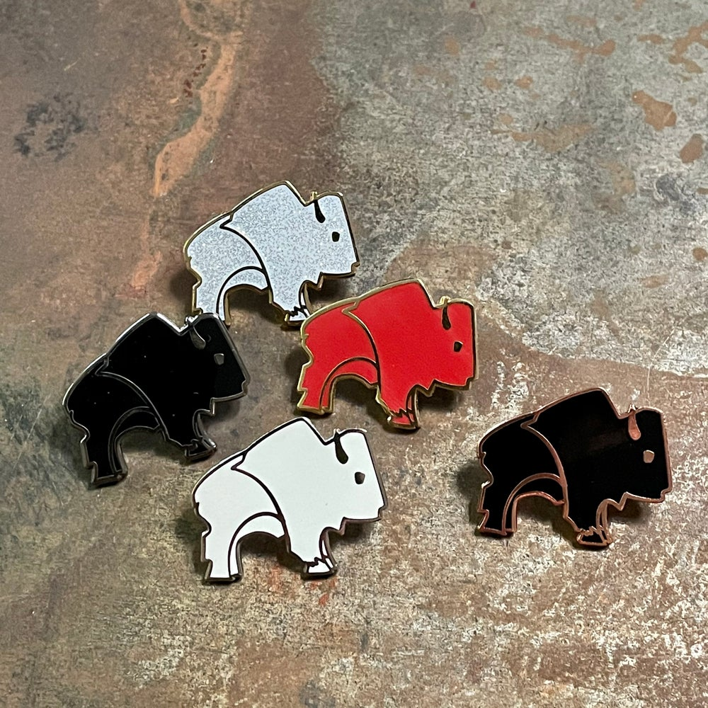 Bison Pin - Black and Copper