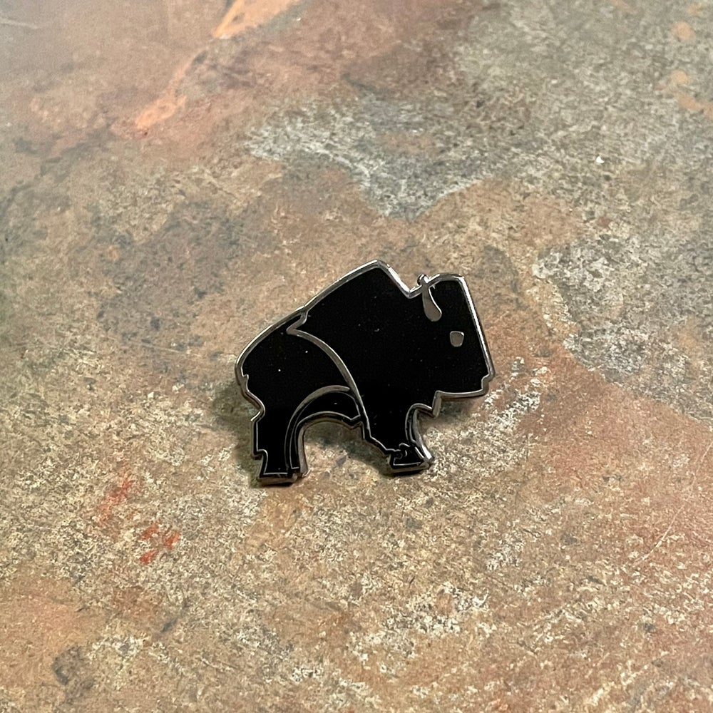 Bison Pin - Black and Silver