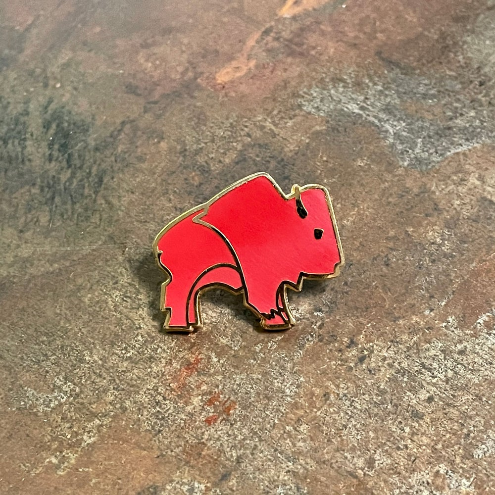 Bison Pin - Red Rust