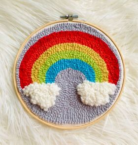 Image of Rainbow Punch Needle Embroidery