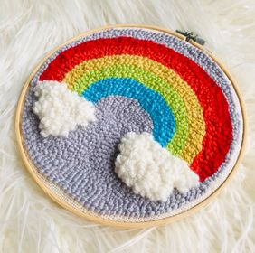 Rainbow Punch Needle Embroidery