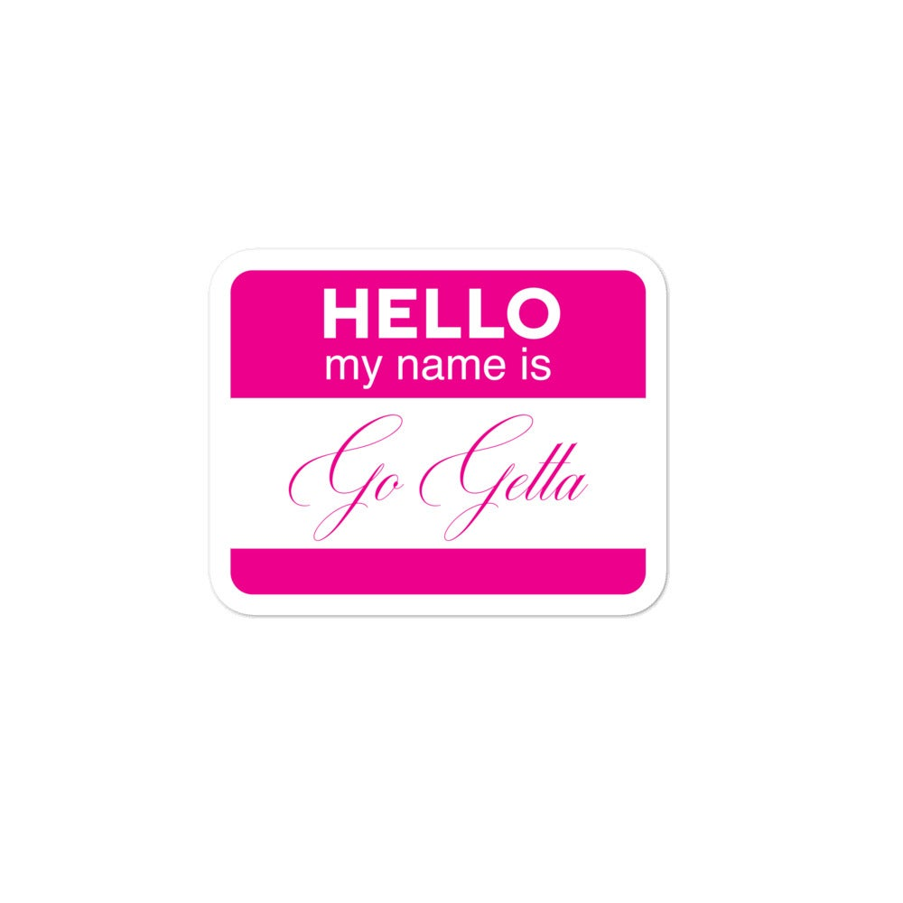 """Image of """"My Name Is"""" Sticker"""
