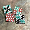 Quilt Block Pin - Starlight Mint
