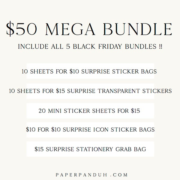 Image of $50 BLACK FRIDAY MEGA BUNDLE