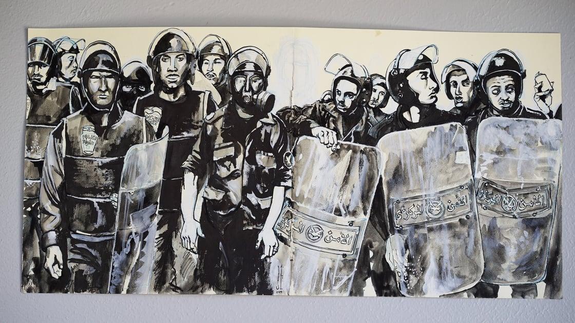 "Image of ""We Live in Cairo"" - Original Art"