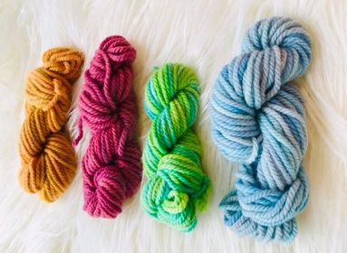 Hand Dyed 10ply Four Pack of Wool
