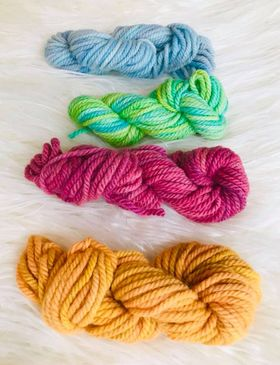 Image of Hand Dyed 10ply Four Pack of Wool