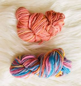 Image of Hand Dyed Two Pack of 8ply Wool
