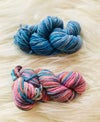 Hand Dyed 8ply Wool two Pack