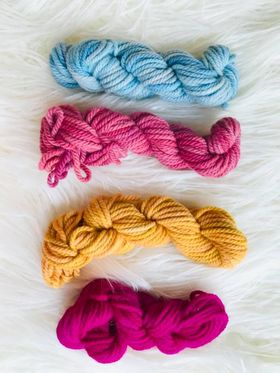 Image of Hand Dyed 10ply Four Pack of Wools