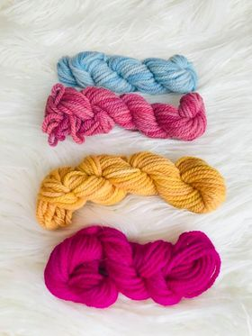 Hand Dyed 10ply Four Pack of Wools