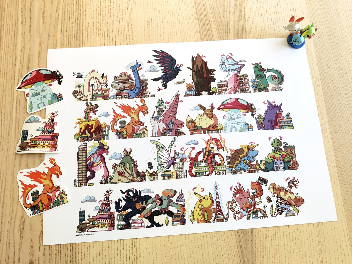 Image of Pokekaiju parade! + 3 Stickers