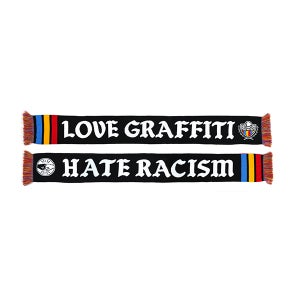 Image of MTN SCARF - LOVE GRAFFITI / HATE RACISM