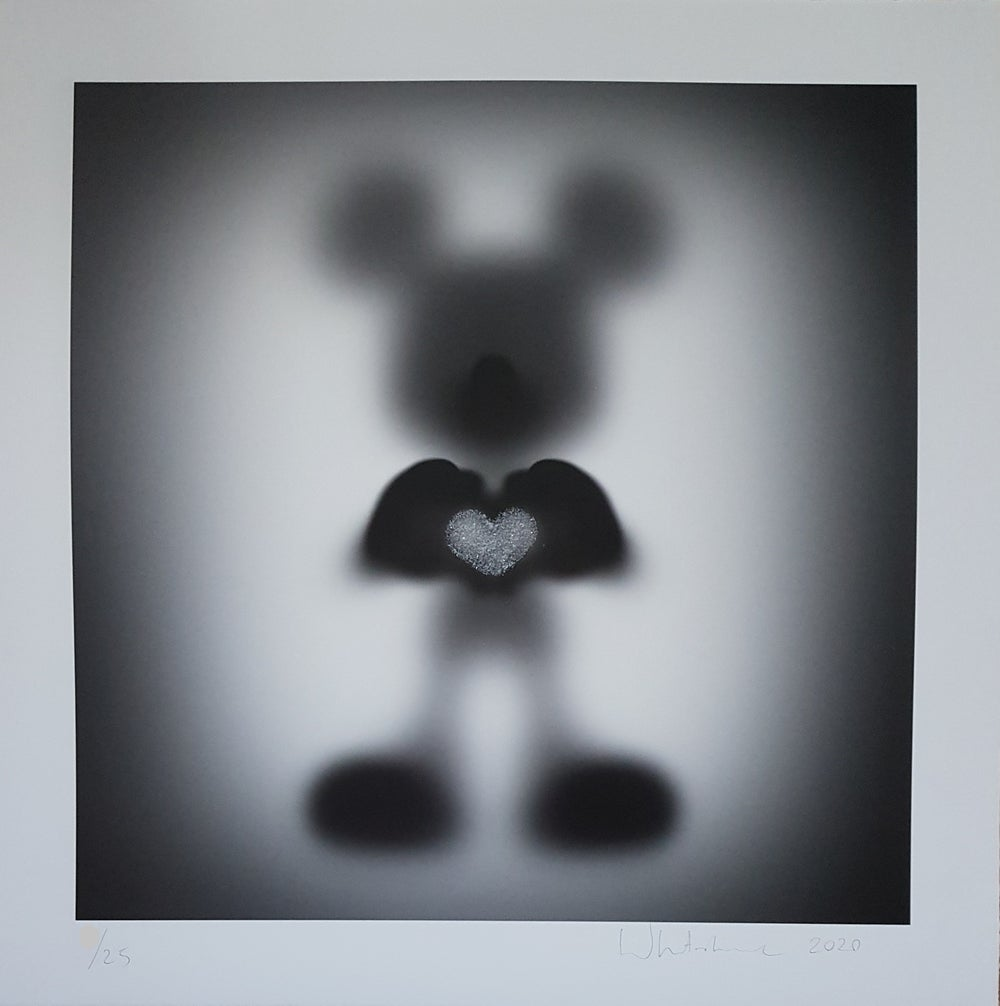 """Image of GONE """"SHARE THE LOVE""""- DIAMOND PRINT EDITION OF 25 BY WHATSHISNAME - 60CM X 60CM"""