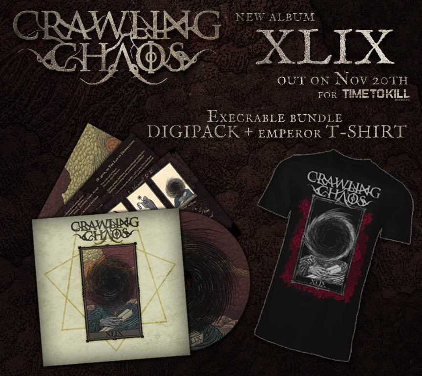 "Image of CRAWLING CHAOS  - XLIX (CD  digipack) +  ""The Emperor"" T-shirt"