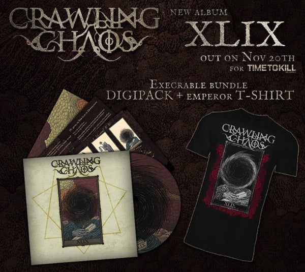 "Image of CRAWLING CHAOS  - XLIX (CD  digipack) +  ""The Emperor"" T-shirt - PRE ORDER"