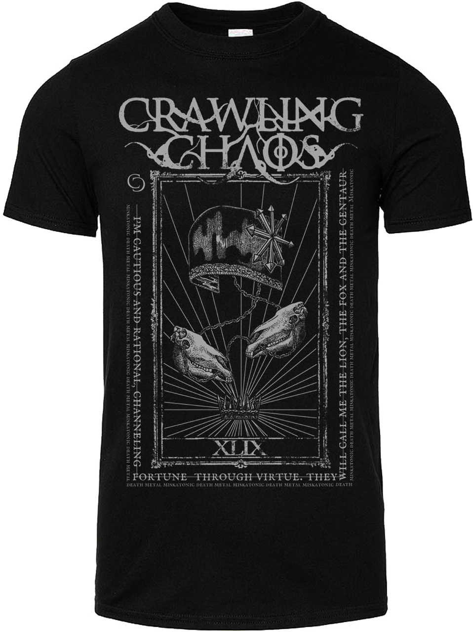 """CRAWLING CHAOS  - """"The Emperor""""  + """"The  Chariot"""" T-shirt"""