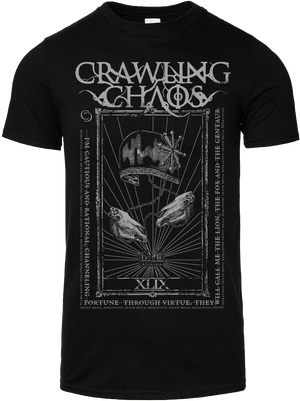 """Image of CRAWLING CHAOS  - """"The Emperor""""  + """"The  Chariot"""" T-shirt"""
