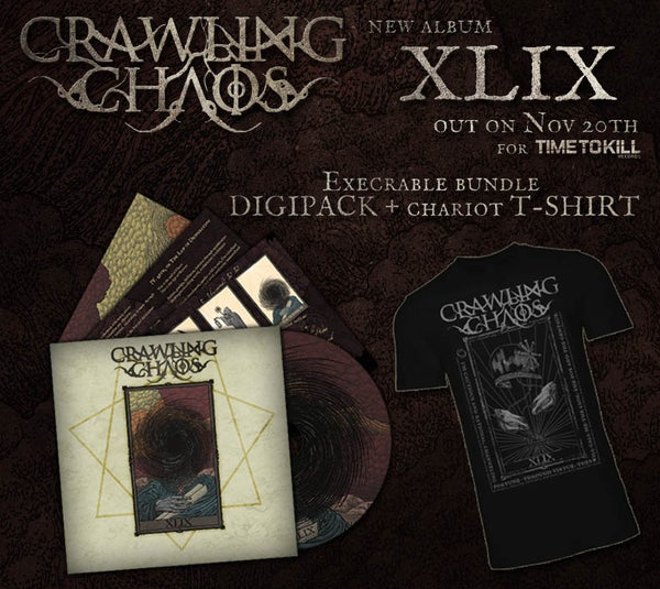 "Image of CRAWLING CHAOS  - XLIX (CD  digipack) +  ""The  Chariot"" T-shirt - PRE ORDER"