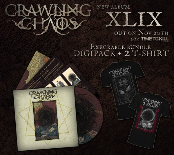 "Image of CRAWLING CHAOS  - XLIX (CD  digipack) +  ""The Emperor"" + ""The  Chariot"" T-shirt - PRE ORDER"