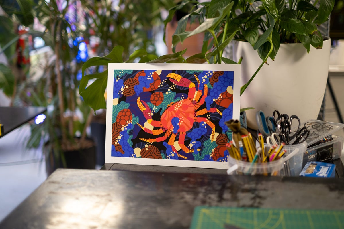 Image of Crabby Ocean - 30 x 40 cm