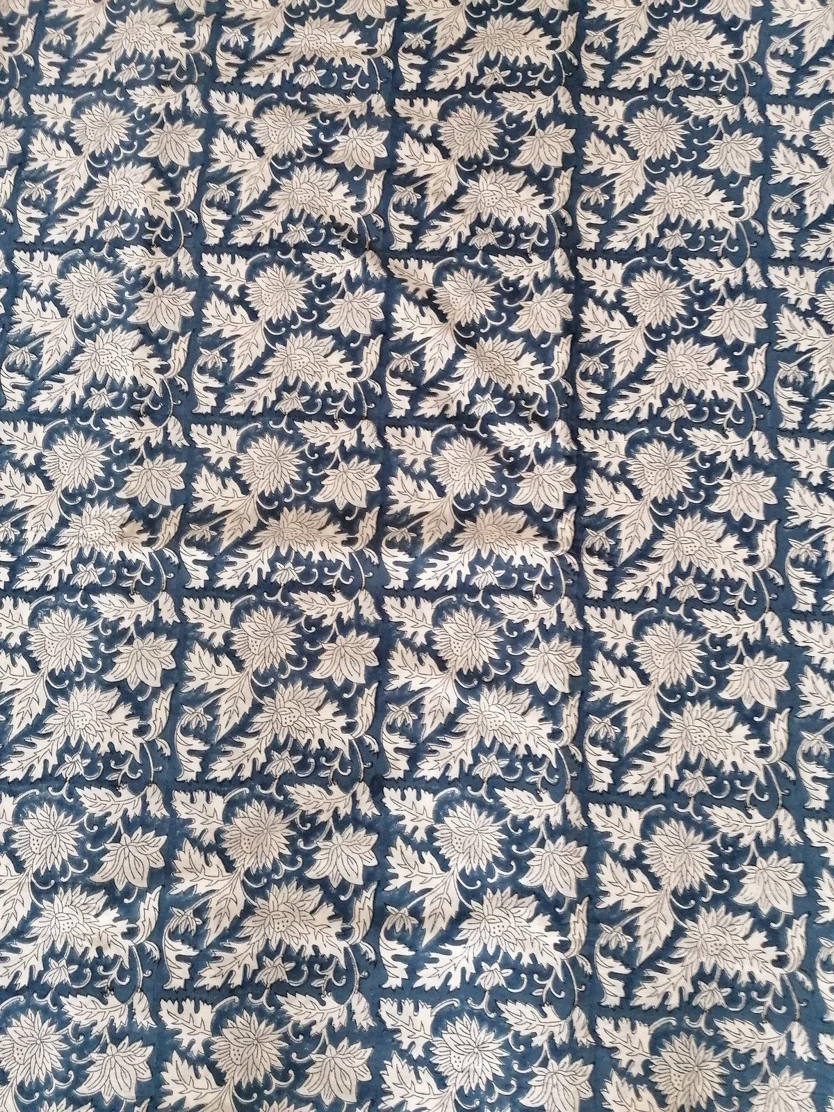 Image of Namasté fabric bleu marine