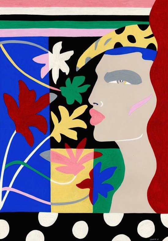 Image of Banana Fleur original painting