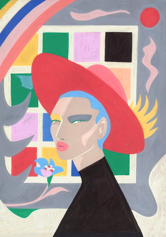 Image of Window Girl original painting